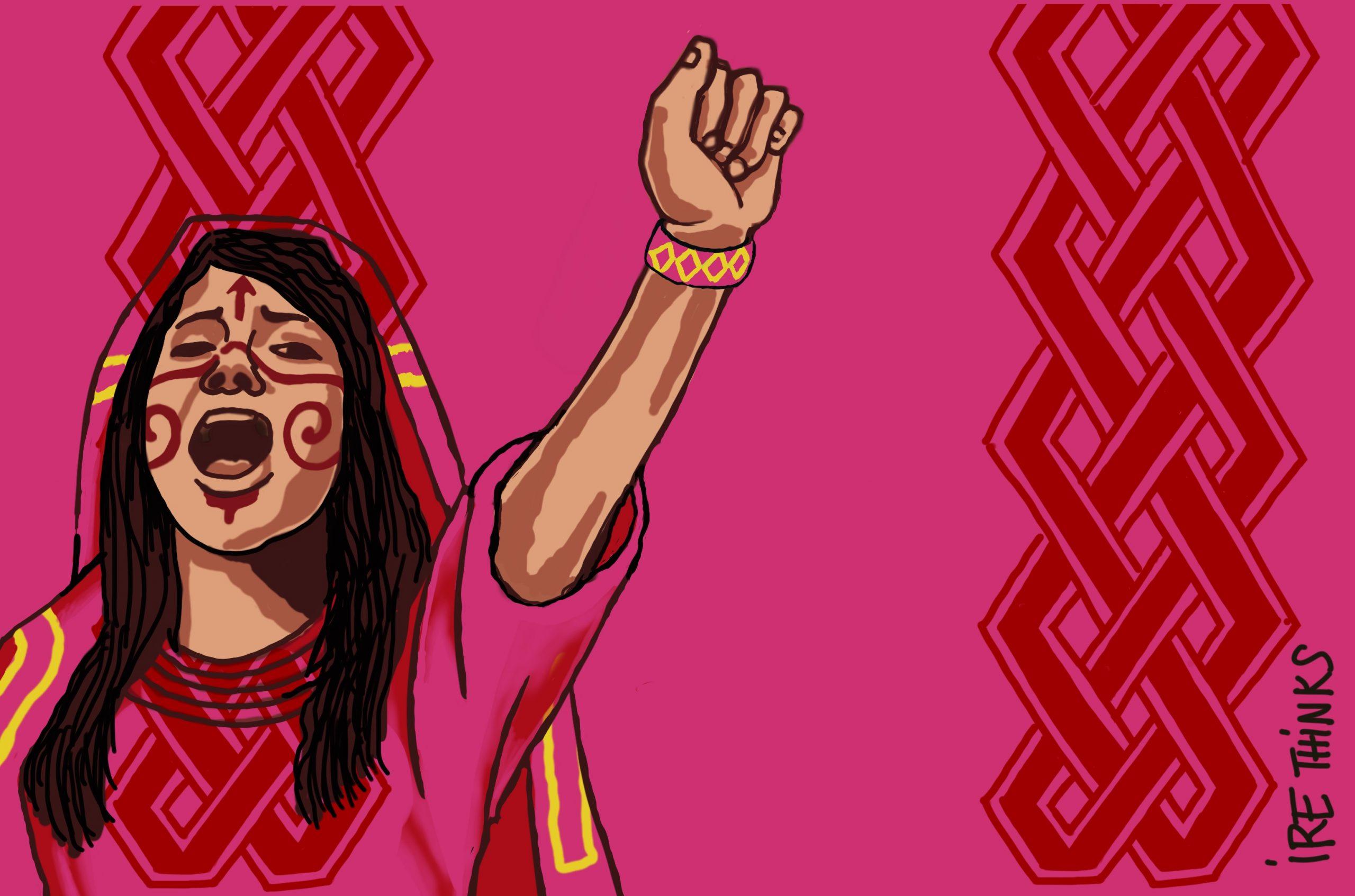 Por los derechos de las mujeres wayus